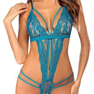 0130 Women One Piece Lingerie Lace Bodysuit Teddy